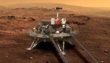 صورة افتراضية للروبوت زورونج على سطح المريخ