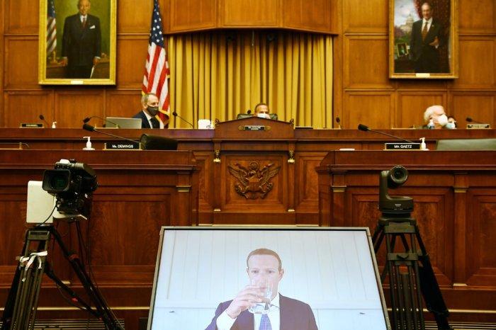 أدلى مارك زوكربيرج رئيس شركة فيسبوك، بشهادته عبر الفيديو العام الماضي أمام اللجنة الفرعية لمكافحة الاحتكار في مجلس النواب