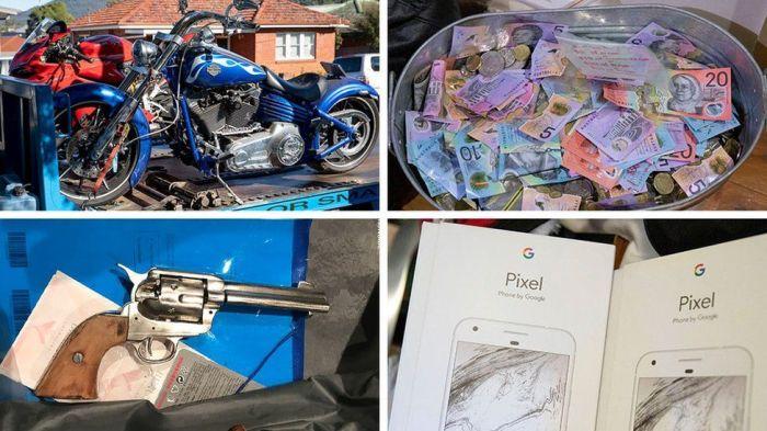 شملت الأشياء التي تم ضبطها في العملية دراجات نارية وأموال