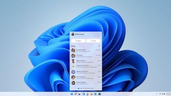 نظام تشغيل ويندوز 11 يشهد تعزيزًا للتكامل مع نظام مايكروسوفت تيمز للاتصال الجماعي