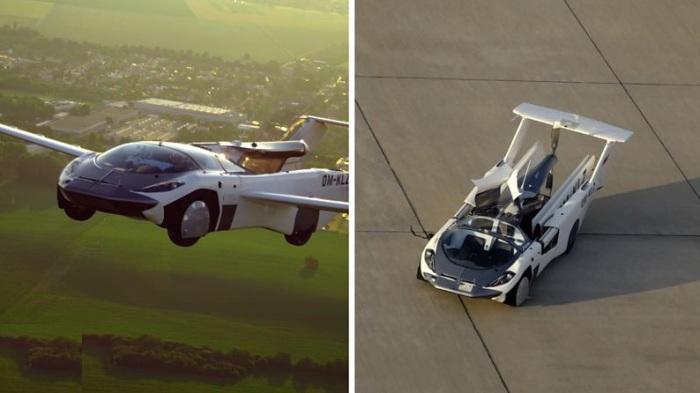 السيارة الطائرة لديها القدرة علي السير علي الأرض والتحليق في الهواء