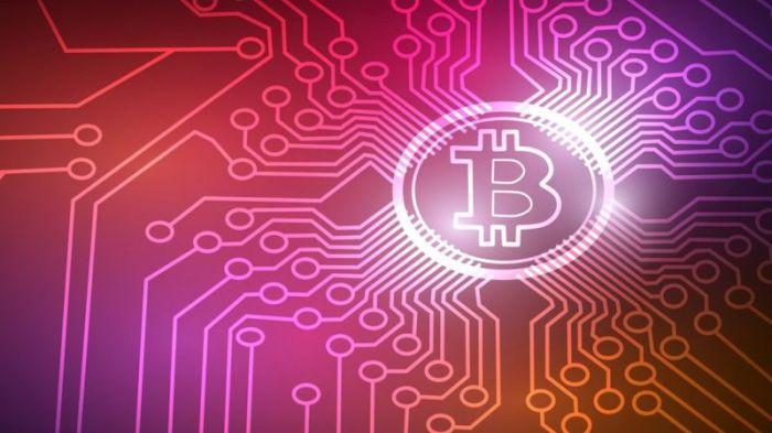 شعار العملة الرقمية بيتكوين