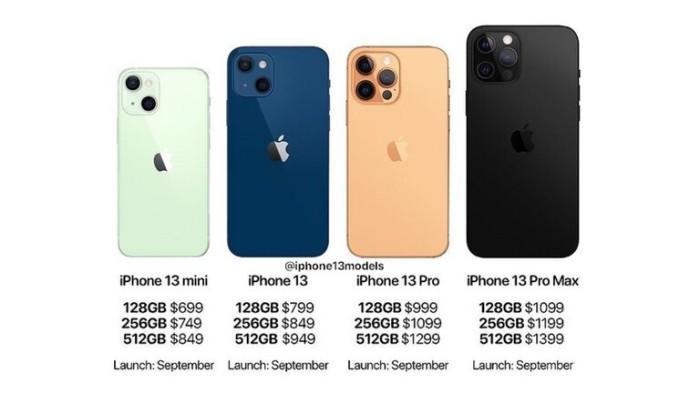 أسعار طرازات أيفون 13