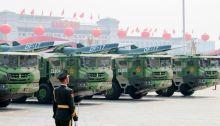 الصين عرضت منصة لصاروخ أسرع من الصوت في استعراض عسكري حديث.