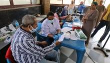 مركز للتطعيم ضد فيروس كورونا بالقاهرة في شهر سبتمبر 2021